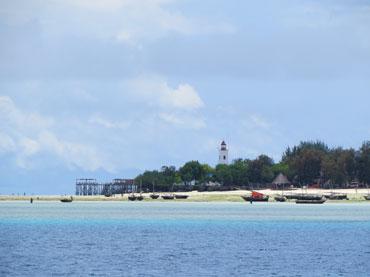 The lighthouse in Nungwi Zanzibar