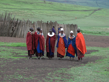 Maasai in Serengeti