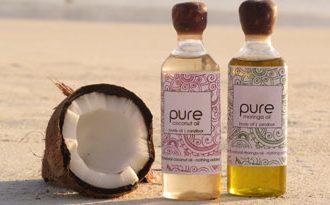 coconut and coconut oil on Zanzibar beach
