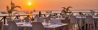 Härlig solnedgång sedd från Z-Hotel, en av Zanzibars bästa restauranger