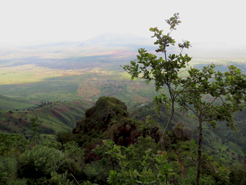 view over the Usambara plain