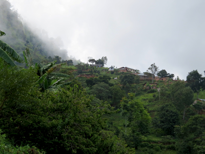 View over Usambara village