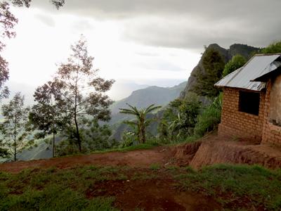 Litet hus i Usambara bergen, tanzania