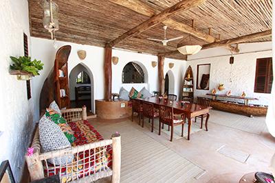 Che che vule Zanzibar dining area