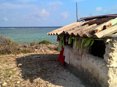 A small sone house forspiritual purposes on Zanzibar