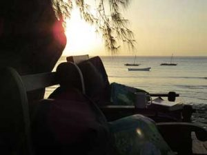 Sunset at Gecko Nature Lodge Pemba