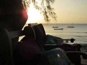 Sunset at Gecko Nature Lodge Pemba