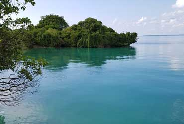 The sea at Chapwani Zanzibar